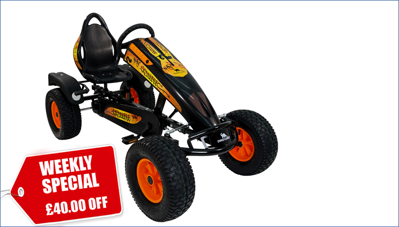 Weekly Special: £40.00 Off our DINO Graffiti Adult Go Kart