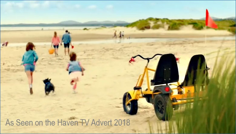 The DINO Trike Side Car as featured in the Haven Holidays' TV advert 2018