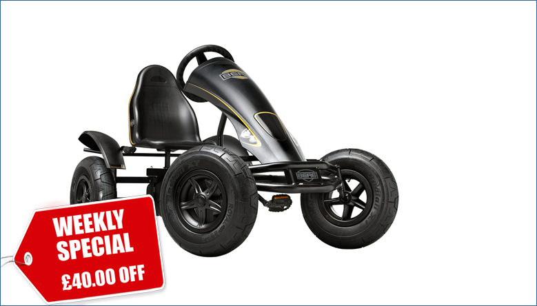 Weekly Special: £40.00 Off BERG Black Edition BFR Pedal Go Kart