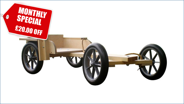 Monthly Special: £20.00 Off our Wooden Trail Go Kart